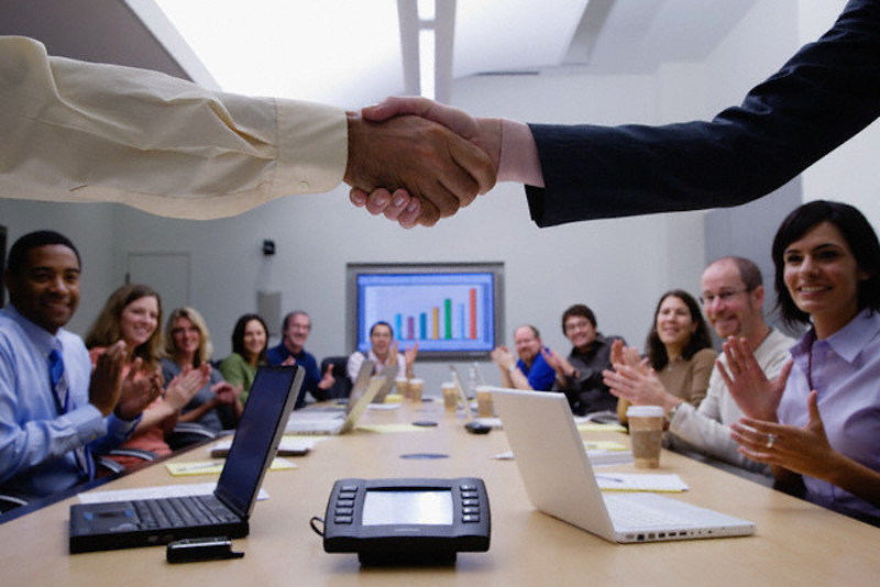 Successful Business Meeting --- Image by © Corbis