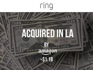 MEGA LA Deal: Ring Acquired by Amazon For Around $1.1B