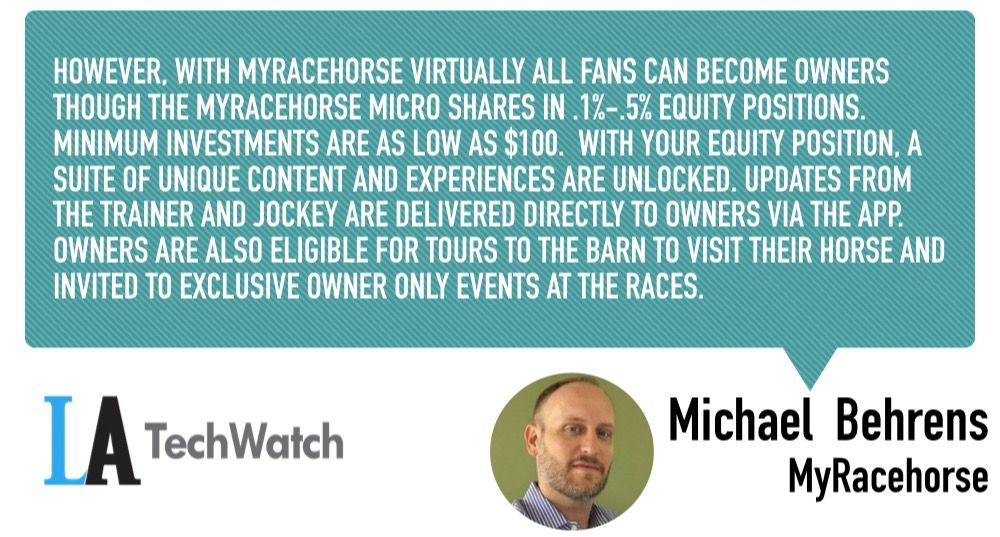 MyRacehorse Enables Fans to Own Racehorses Through a Smartphone App